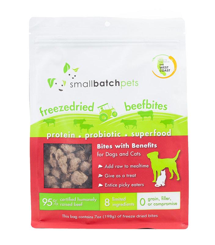 Small Batch Small Batch Freeze Dried Small Bites Beef Dog Treats 7oz
