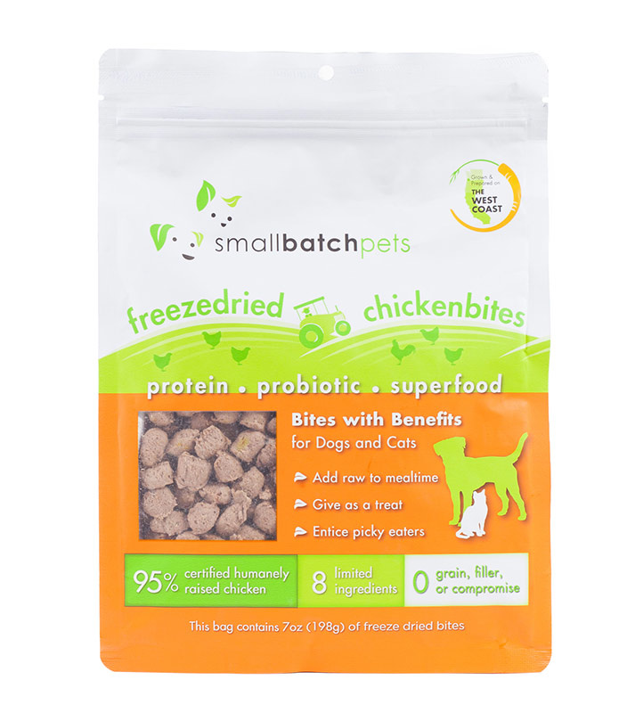 Small Batch Small Batch Freeze Dried Small Bites Chicken Dog Treats 7oz