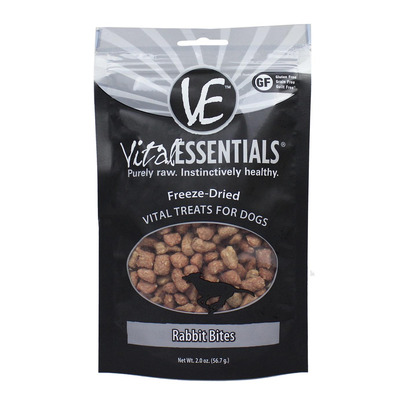 Vital Essentials Vital Essentials Freeze Dried Rabbit Bites Dog Treat  2oz