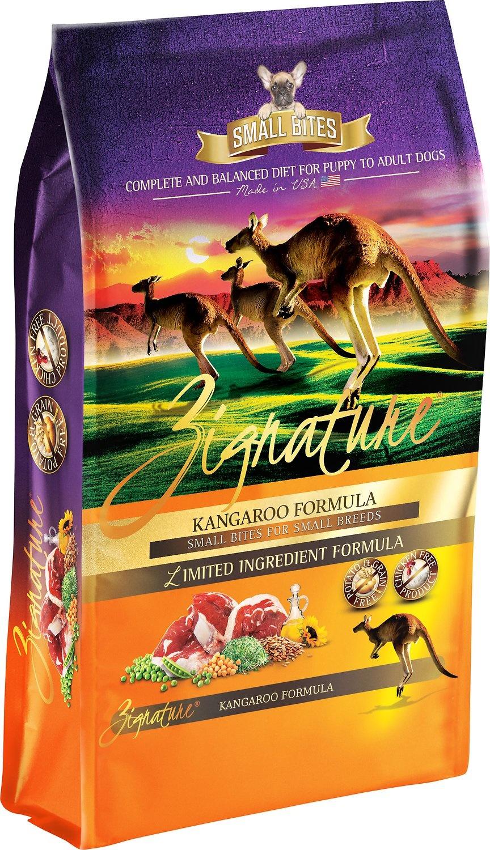 Zignature Zignature Kangaroo Small Bites Dry Dog Food