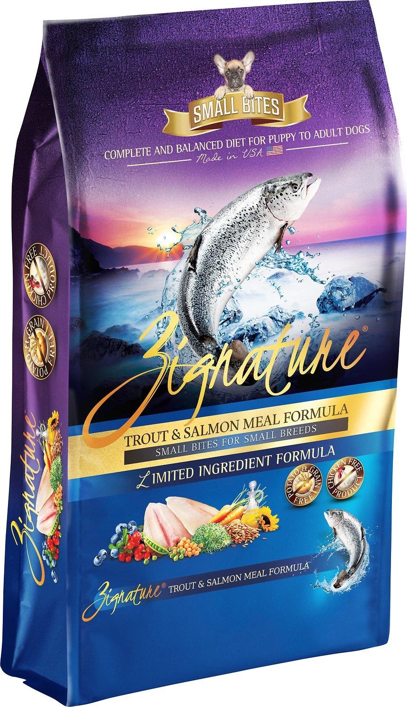 Zignature Zignature Trout & Salmon Small Bites Dry Dog Food