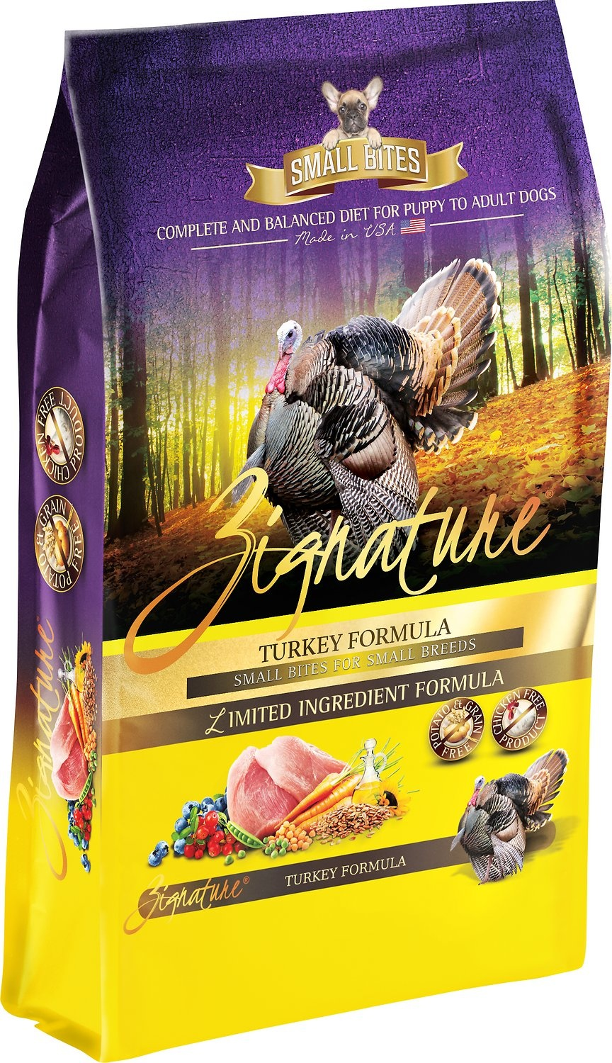 Zignature Zignature Turkey Small Bites Dry Dog Food