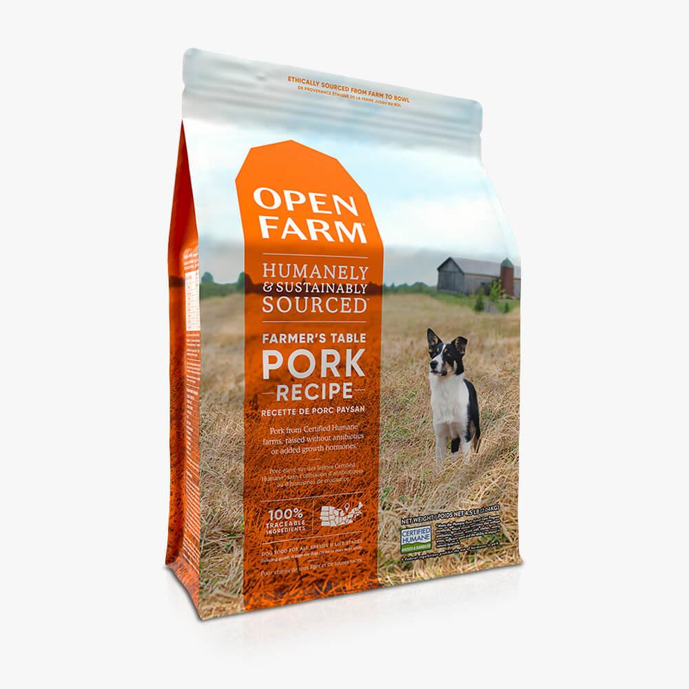 Open Farm Open Farm Farmer's Table Pork & Root Vegetable Dry Dog Food 12#