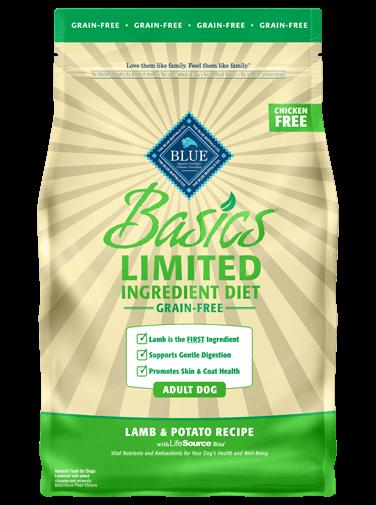 Blue Buffalo Blue Buffalo Basics Grain Free Lamb Dry Dog Food 22#