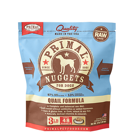 Primal Primal Quail Raw Dog Food