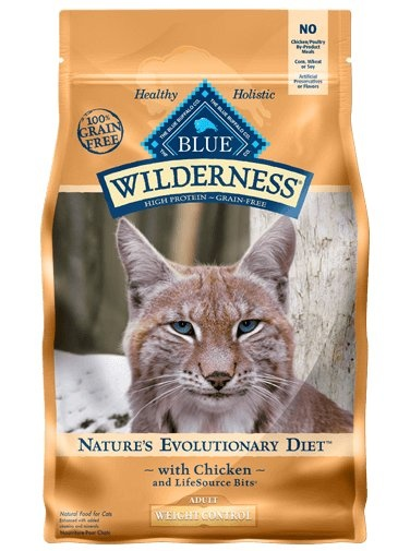 Blue Buffalo Blue Buffalo Wilderness Weight Control Chicken Dry Cat Food 5#