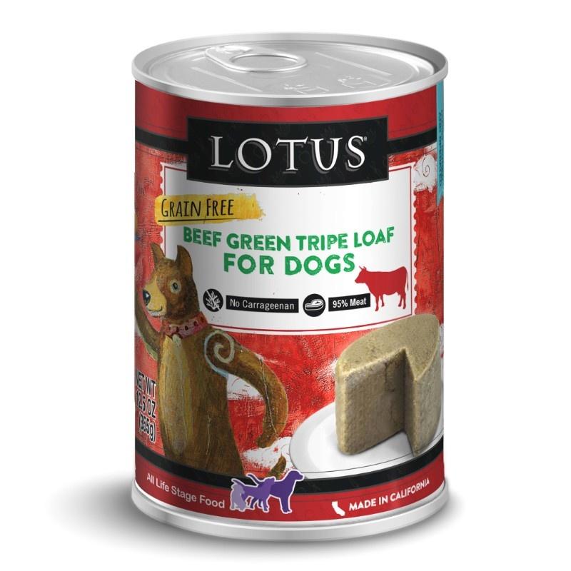Lotus Lotus Grain Free Beef Green Tripe Loaf Wet Dog Food