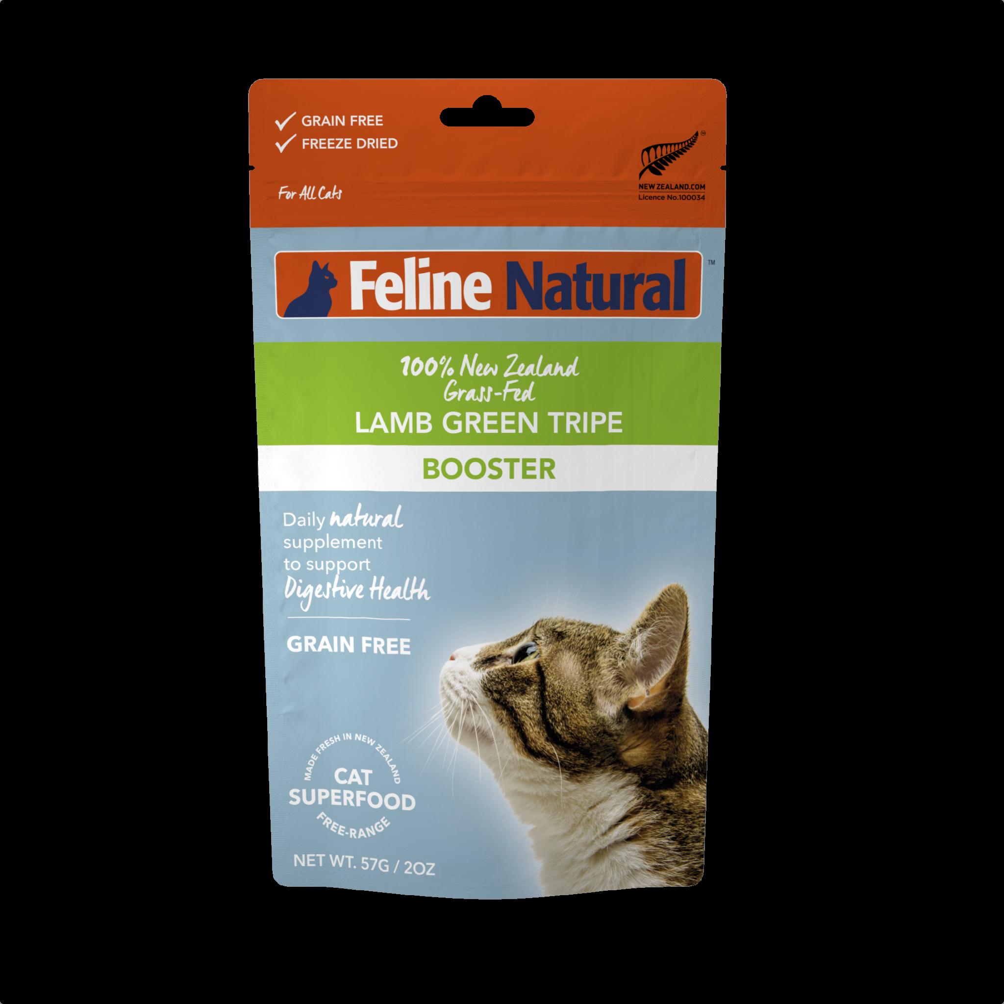 Feline Natural Feline Natural Lamb Green Tripe Freeze Dried Booster 2oz