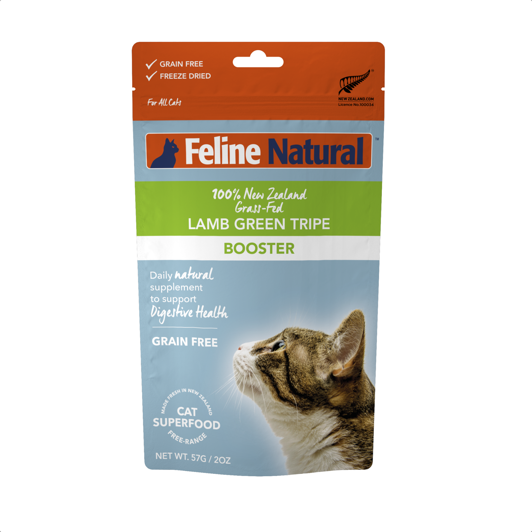 K9 Natural Feline Natural Lamb Green Tripe Freeze Dried Booster Cat Supplement 2oz