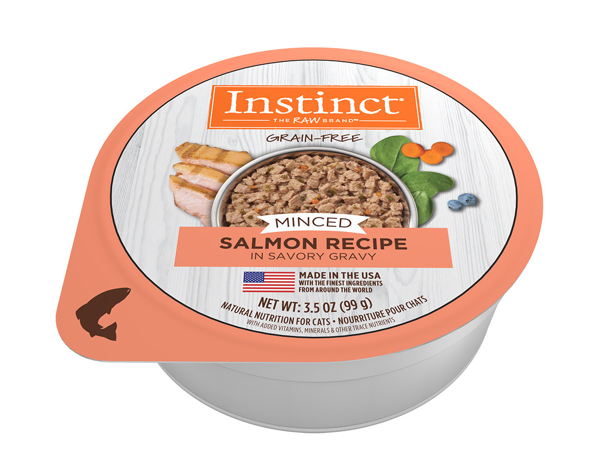 Nature's Variety Nature's Variety Instinct Minced Salmon Wet Cat Food Cup 3.5oz