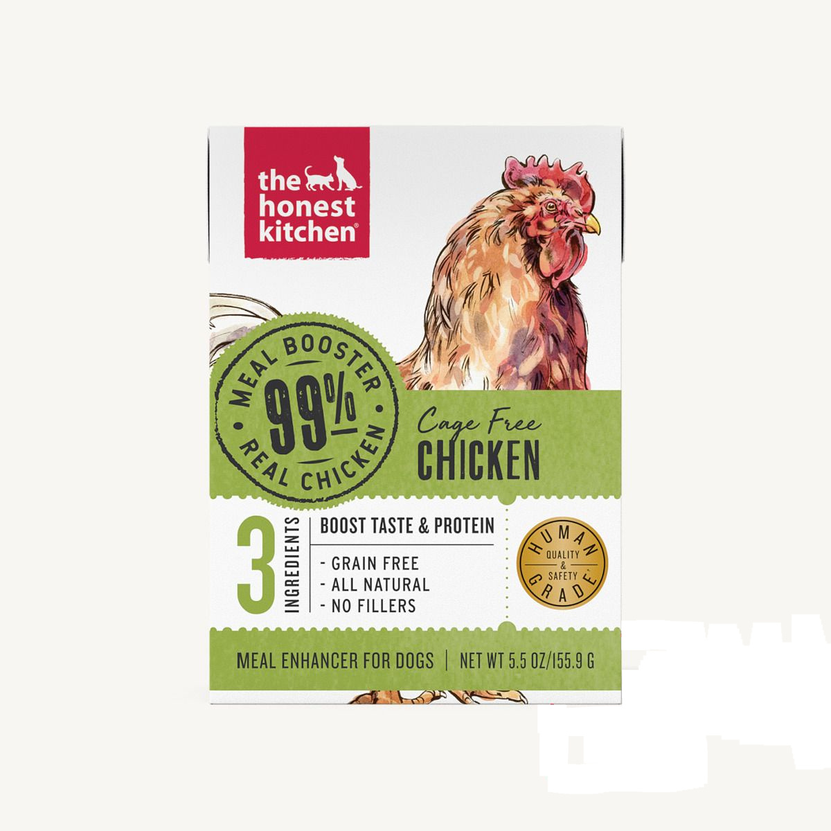 The Honest Kitchen The Honest Kitchen 99% Chicken Meal Booster Wet Dog Food 5.5oz