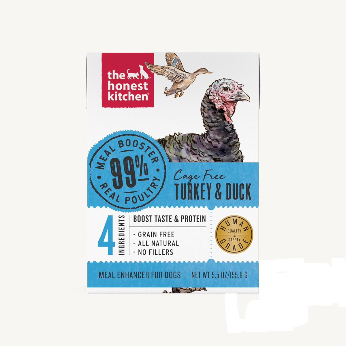 The Honest Kitchen The Honest Kitchen 99% Turkey & Duck Meal Booster Wet Dog Food 5.5oz