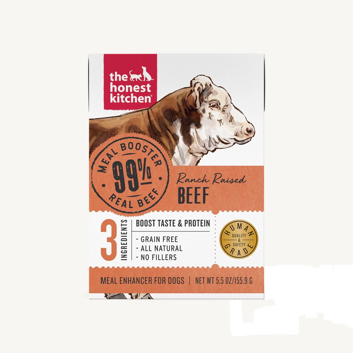 The Honest Kitchen The Honest Kitchen 99% Beef Meal Booster Wet Dog Food 5.5oz