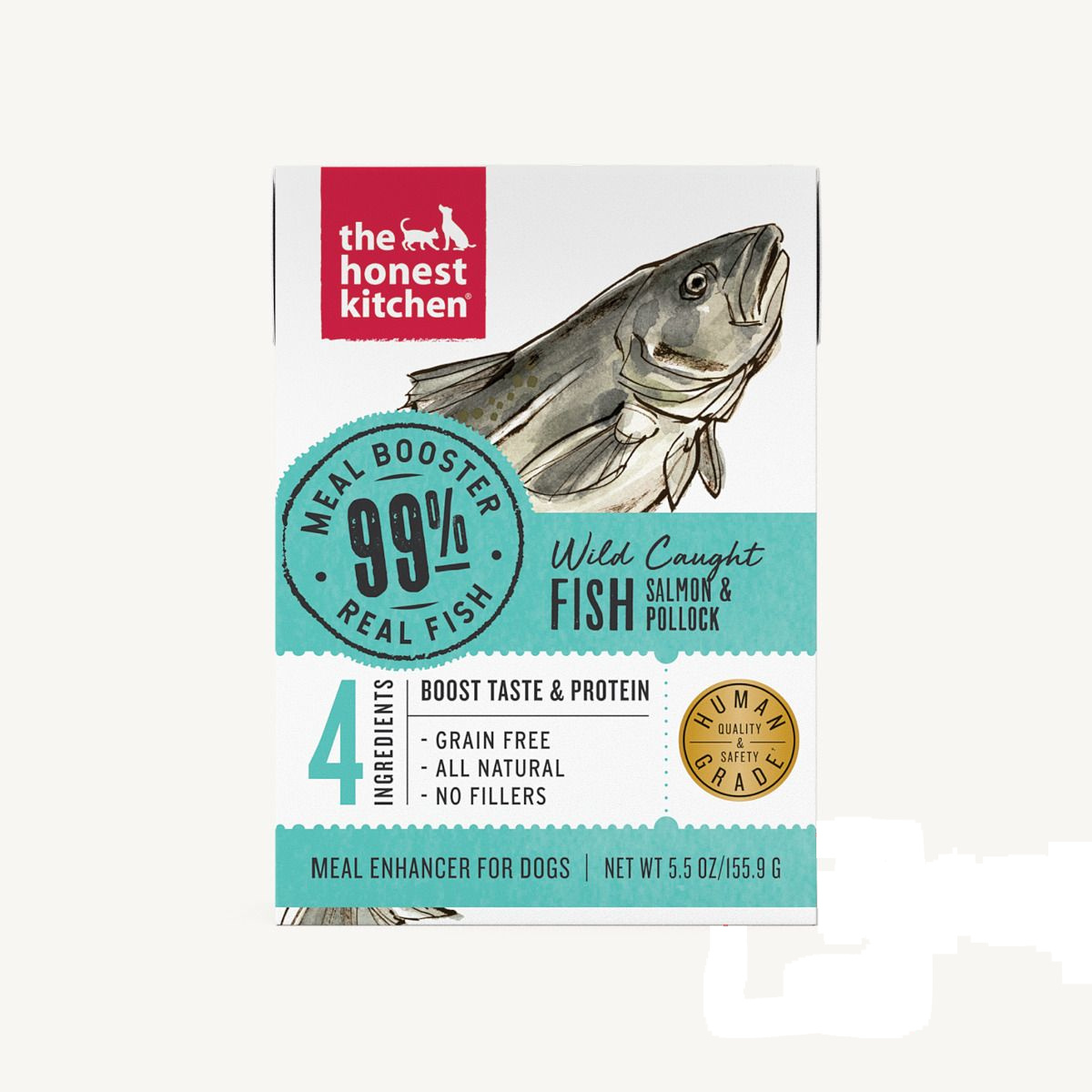 The Honest Kitchen The Honest Kitchen 99% Salmon & Pollock Meal Booster Wet Dog Food 5.5oz