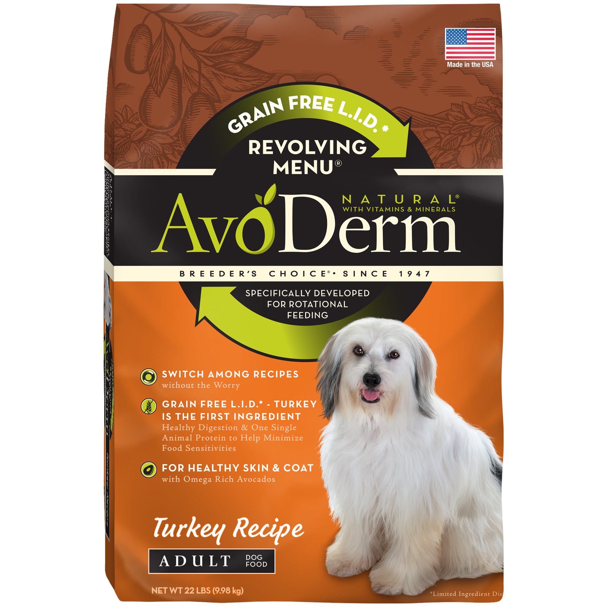 AvoDerm AvoDerm Revolving Menu Turkey Dry Dog Food