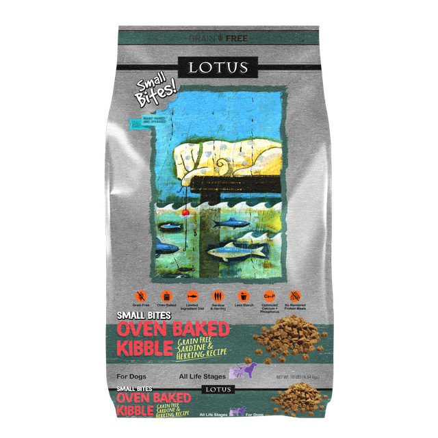Lotus Lotus Oven Baked Grain Free Sardine & Herring Small Bites Dry Dog Food