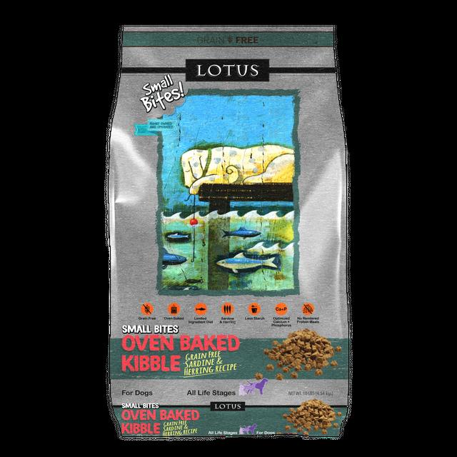 Lotus Lotus Oven Baked Grain Free Sardine & Herring Small Bites Dry Dog Food