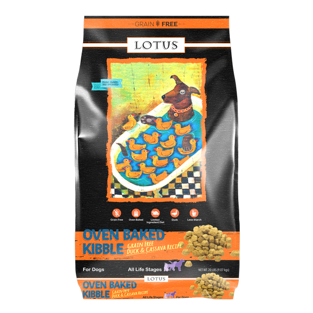 Lotus Lotus Oven Baked Grain Free Duck & Cassava Dry Dog Food