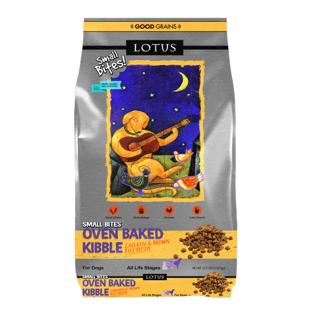 Lotus Lotus Oven Baked Chicken & Brown Rice Small Bites Dry Dog Food