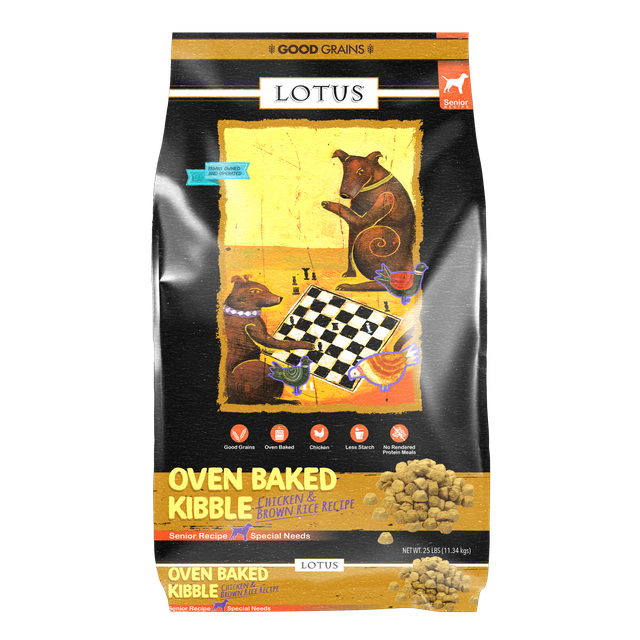 Lotus Lotus Oven Baked Chicken & Brown Rice Senior Dry Dog Food