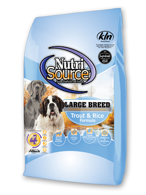 NutriSource NutriSource Large Breed Trout & Rice Dry Dog Food 30#