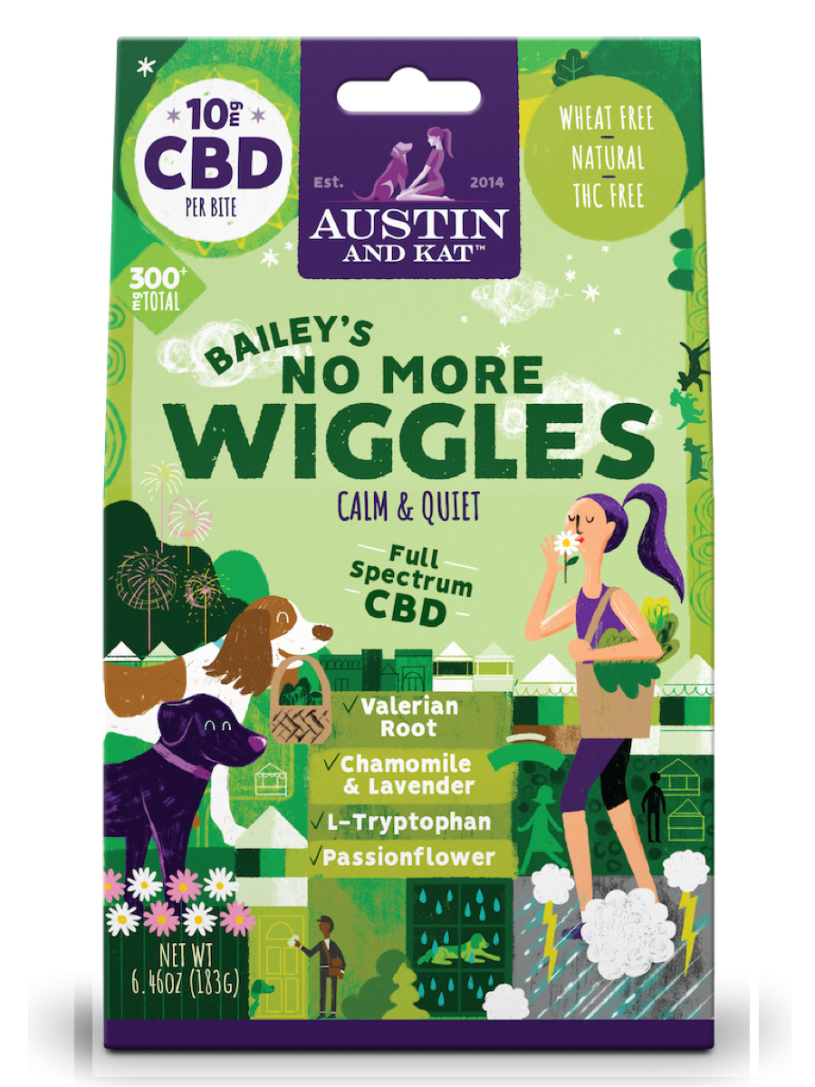Austin & Kat Austin & Kat Functional Biscuits Bailey's No More Wiggles CBD Supplement 10mg 30ct