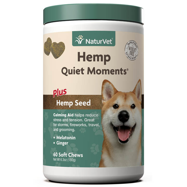 NaturVet NaturVet Hemp Quiet Moments Calming Soft Chew For Dogs 60 Count