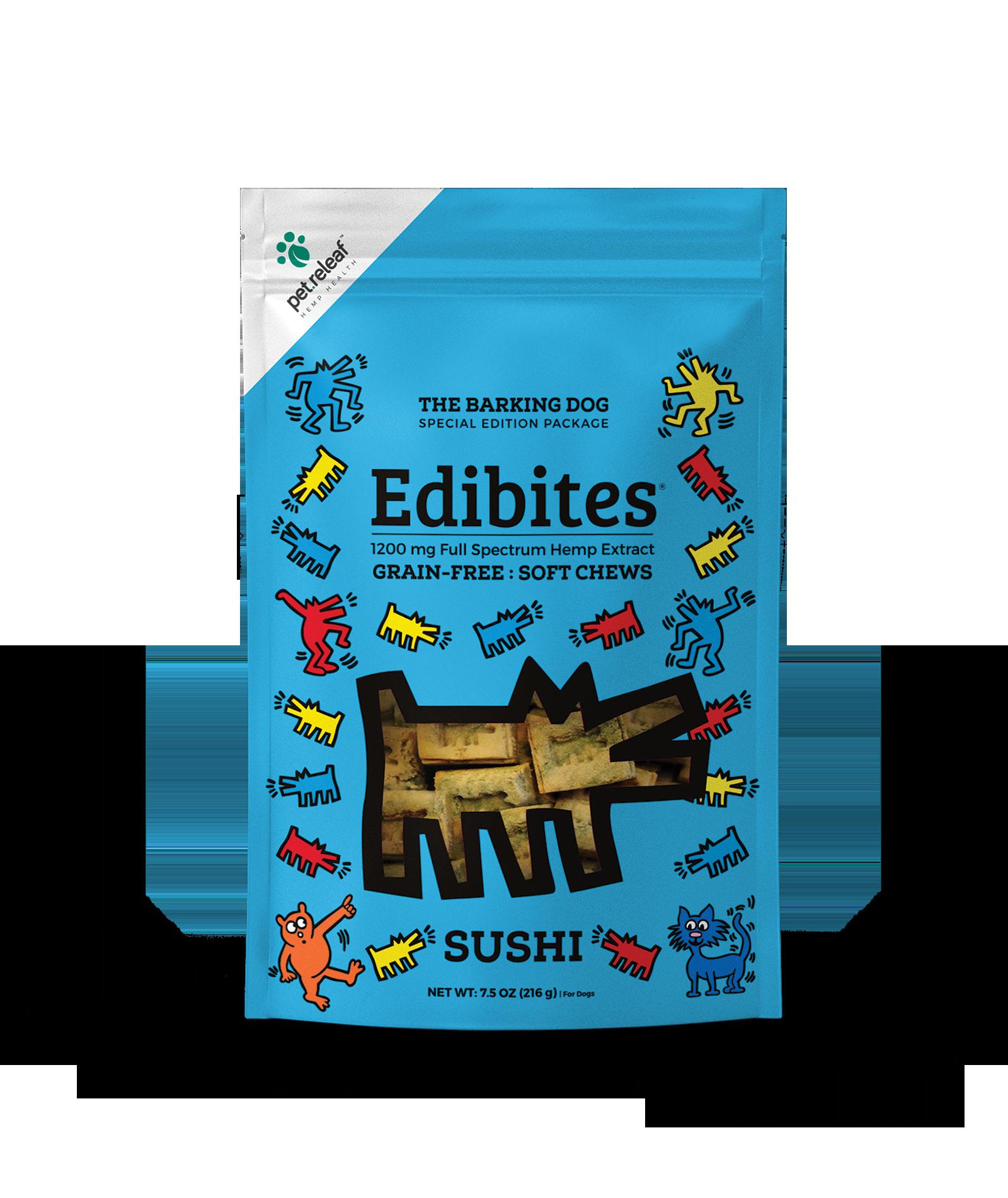 Pet Releaf Pet Releaf KH Edibites Sushi Soft Chews CBD Supplement 7.5oz