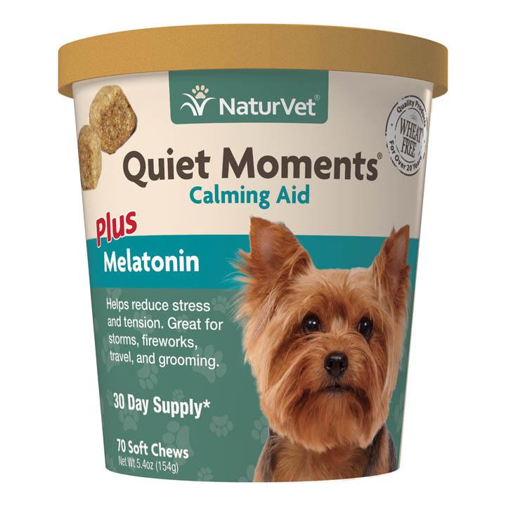 NaturVet NaturVet Quiet Moments Plus Melatonin Soft Chew For Dogs