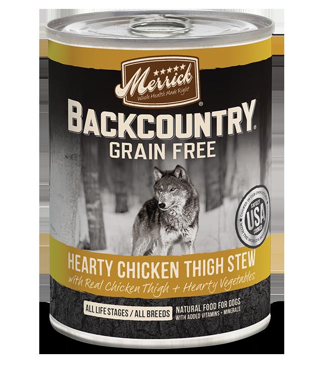 Merrick Merrick Backcountry Hearty Chicken Thigh Stew Wet Dog Food 12.7oz