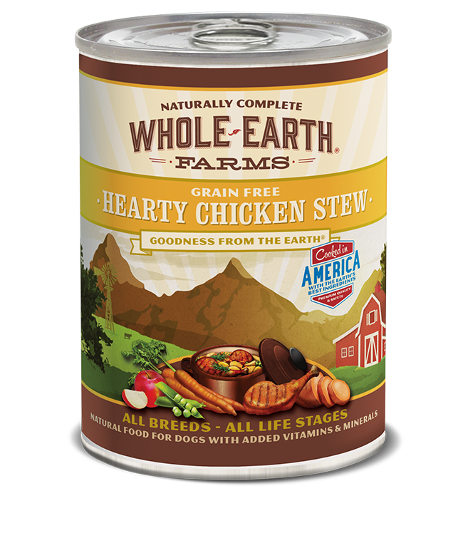 Merrick Merrick Whole Earth Farms Grain Free Hearty Chicken Stew Wet Dog Food 12.7oz
