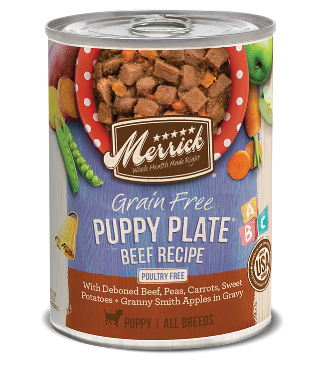Merrick Merrick Puppy Plate Beef Wet Dog Food 12.7oz