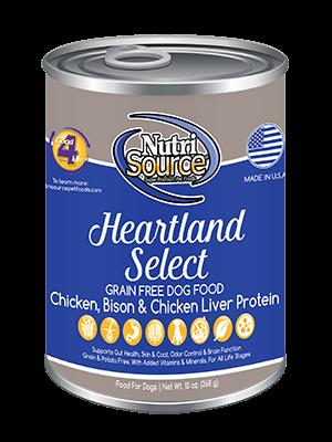 NutriSource NutriSource Grain Free Heartland Select Chicken & Bison Wet Dog Food 13oz