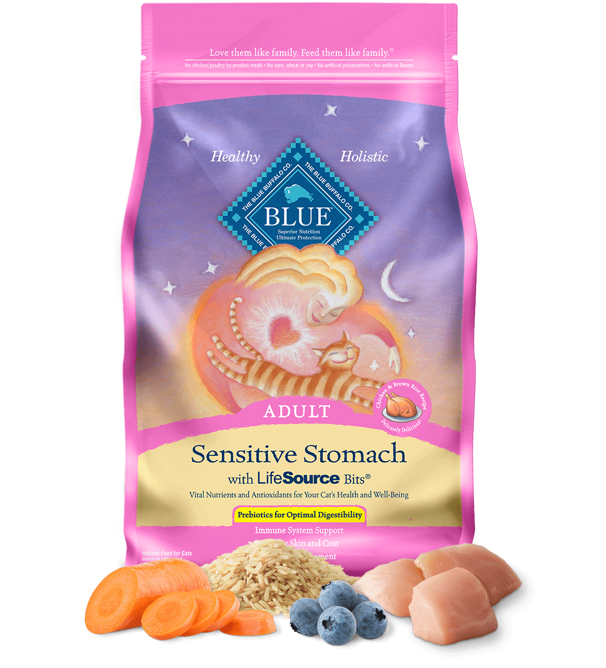 Blue Buffalo Blue Buffalo Life Protection Formula Sensitive Stomach Chicken Dry Cat Food