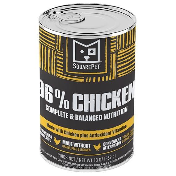 Squarepet Squarepet Canine 96% Chicken Wet Dog Food 13oz