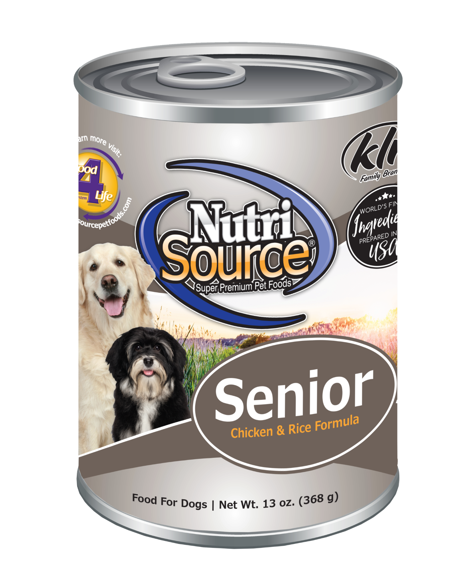 NutriSource NutriSource Senior Chicken & Rice Wet Dog Food 13oz