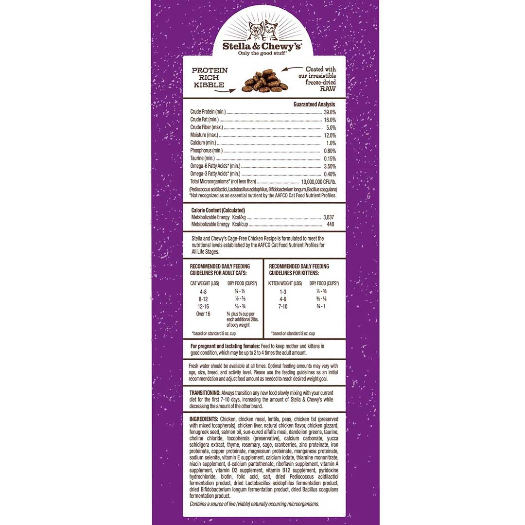 Stella & Chewy's Stella & Chewy's Raw Coated Chicken Dry Cat Food 2.5#