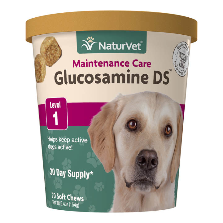 NaturVet NaturVet Glucosamine DS Maintenance Care Level 1 Soft Chew 70ct