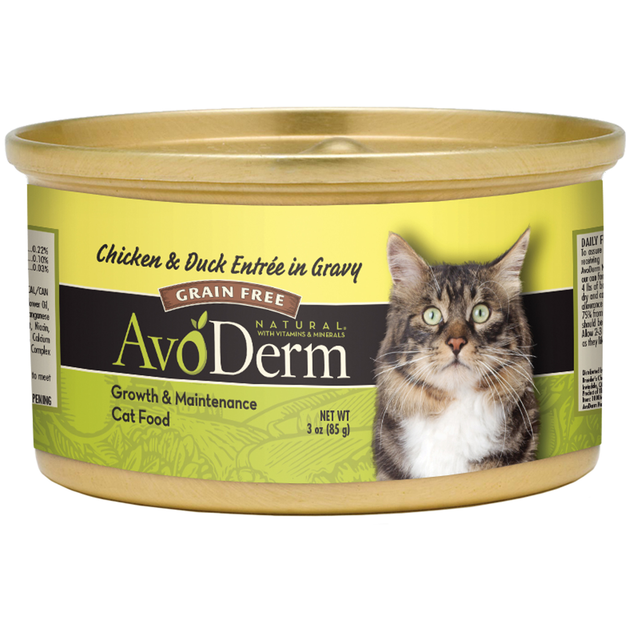 AvoDerm Avoderm Grain-Free Chicken and Duck in Gravy Wet Cat Food 3oz