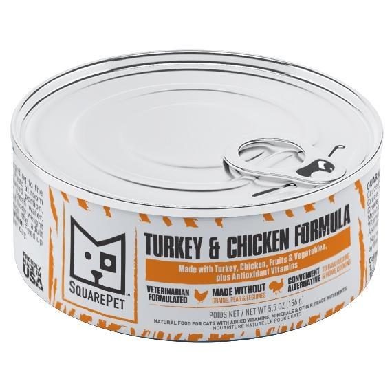 Squarepet Squarepet Feline Turkey & Chicken Wet Cat Food 5.5oz
