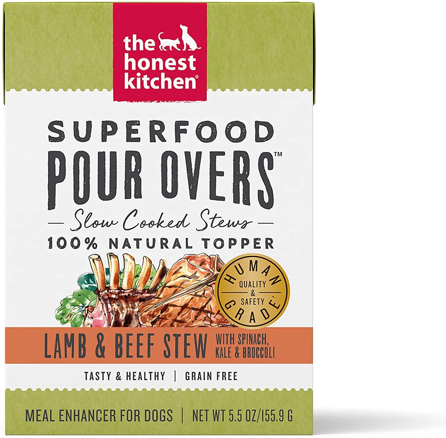 The Honest Kitchen The Honest Kitchen Pour Overs Superfood Lamb & Beef Stew Wet Dog Food 5.5oz