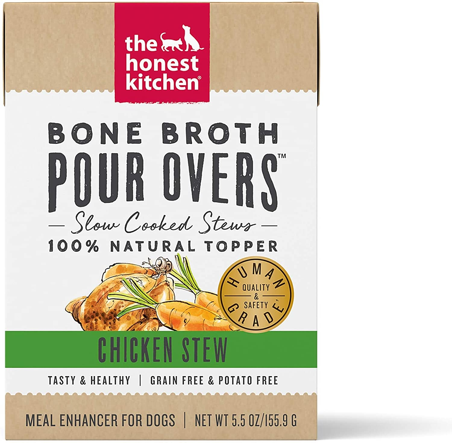 The Honest Kitchen The Honest Kitchen Pour Overs Bone Broth Chicken Stew Wet Dog Food 5.5oz