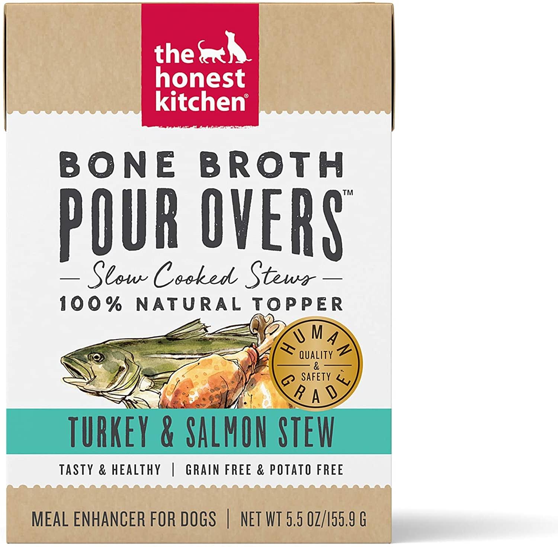 The Honest Kitchen The Honest Kitchen Pour Overs Bone Broth Turkey & Salmon Stew Wet Dog Food 5.5oz