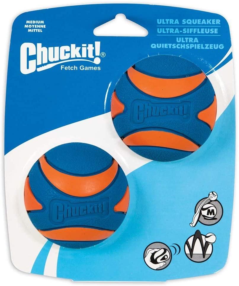 Chuckit! Chuckit! Ultra Squeaker Balls Dog Toy 2pk