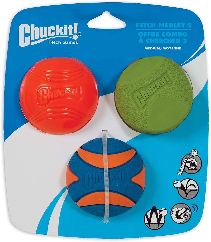 Chuckit! Chuckit! Fetch Medley Dog Toy 3pk