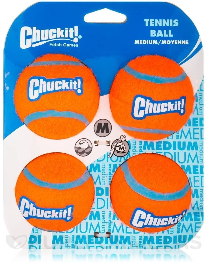 Chuck-it! Tennis Balls 4 Pack Dog Toy Medium