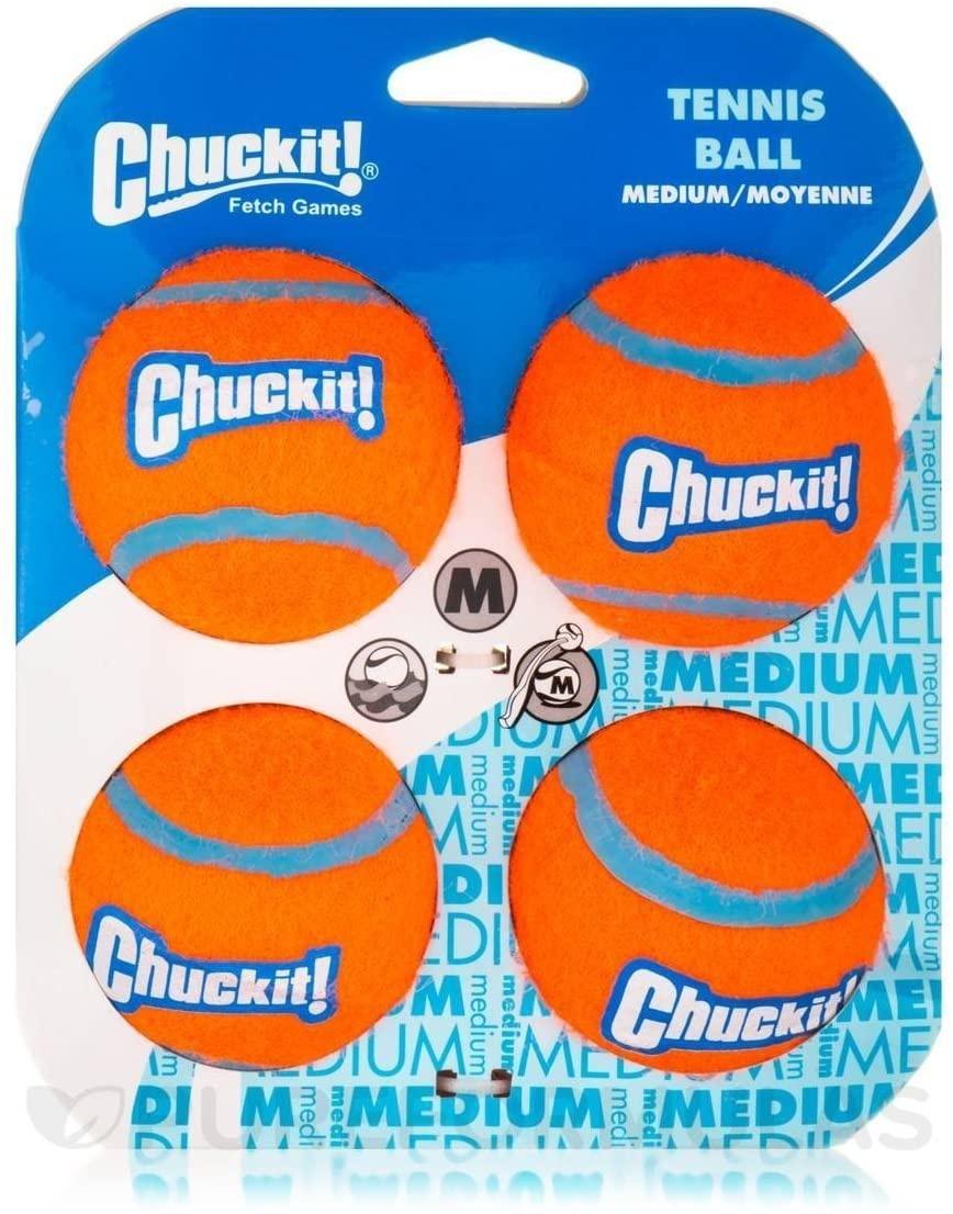 Chuckit! Chuck-it! Tennis Balls 4 Pack Dog Toy Medium