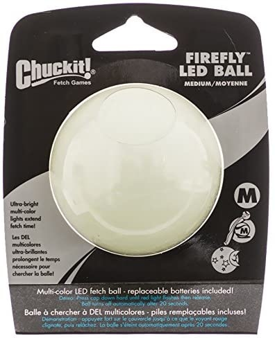 Chuckit! Chuckit! Firefly LED Ball Dog Toy Medium