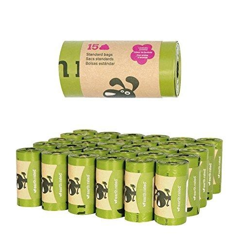 Earth Rated Waste Bags Lavender Scented Single Roll 15 Bags