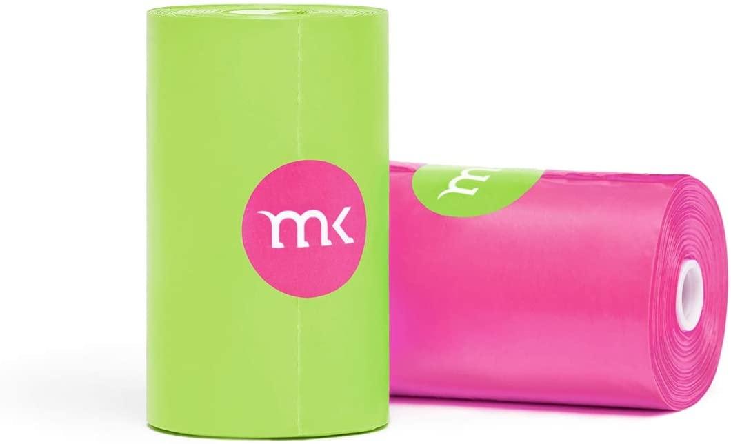 Modern Kanine Waste Bags Green & Pink